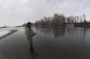 Eric Beck Fishing in Feb.